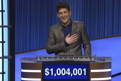 Matt Amodio becomes third player on 'Jeopardy!' to top $1M in winnings